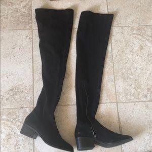 Steve Madden Thigh High Boot Black Size 7